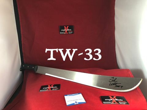 "TW_33 - 22"" Machete Autographed By Ted White"