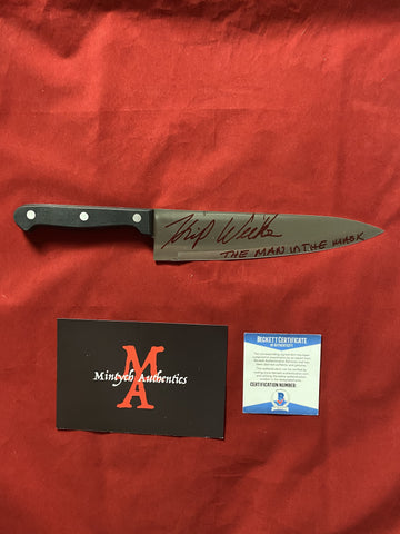 "WEEKS_021 - 8"" Real Butchers Knife Autographed By Kip Weeks"