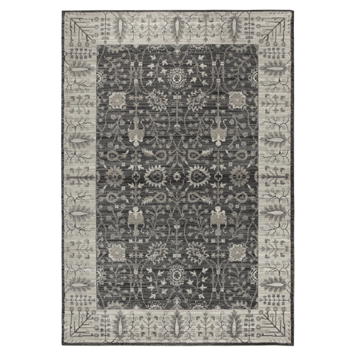 Aria Patterned Rug in Black, Taupe and Gray