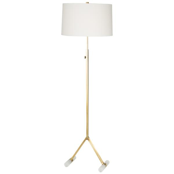 Bohem The Natural Light Grasp 8096-89016 Brass and Alabaster Floor Lamp