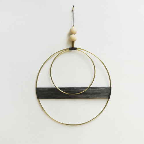 Small Brass Woven Circular Wall Hanging