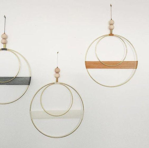 Brass Double Circle Wall Hanging