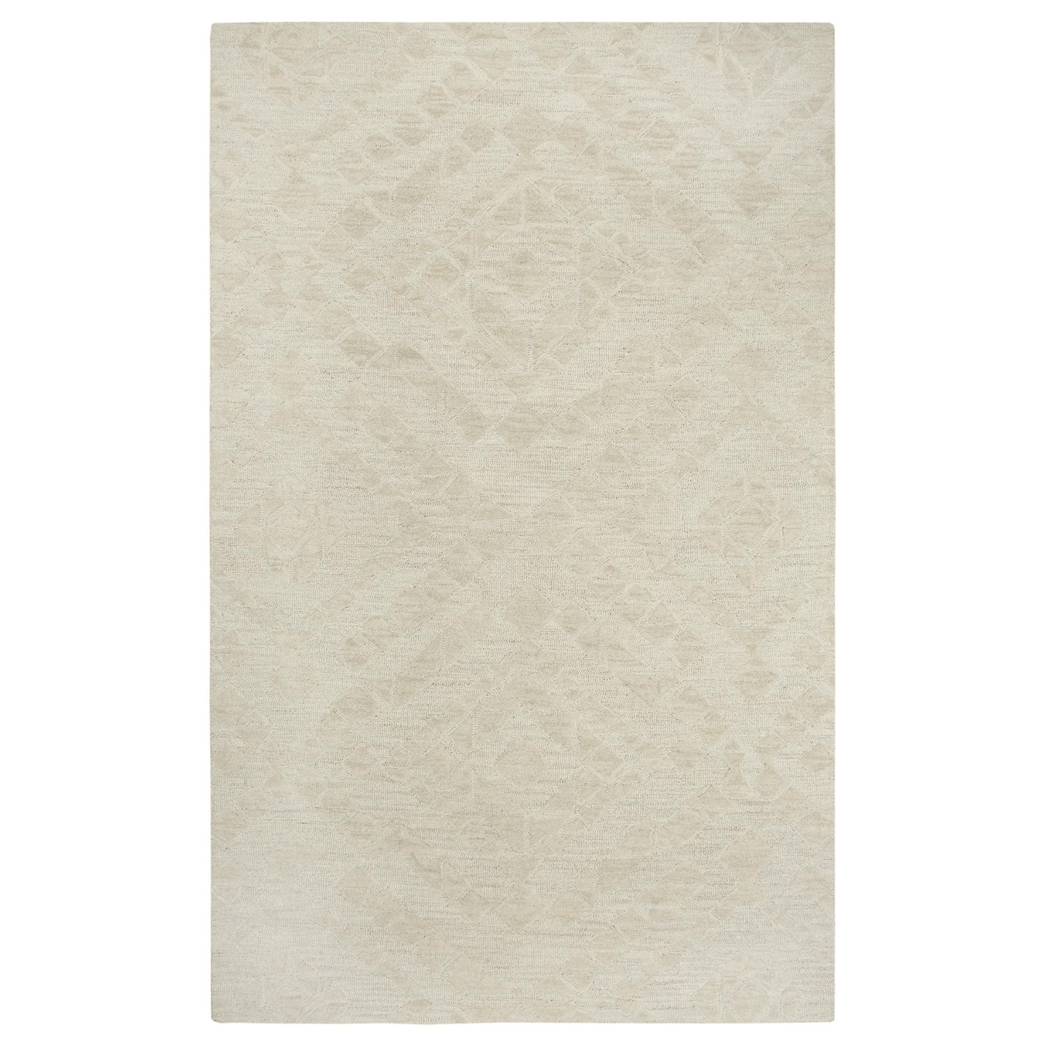 Fifth Avenue Rizzy Home FA167B Beige Wool Neutral Area Rug with Diamond Design