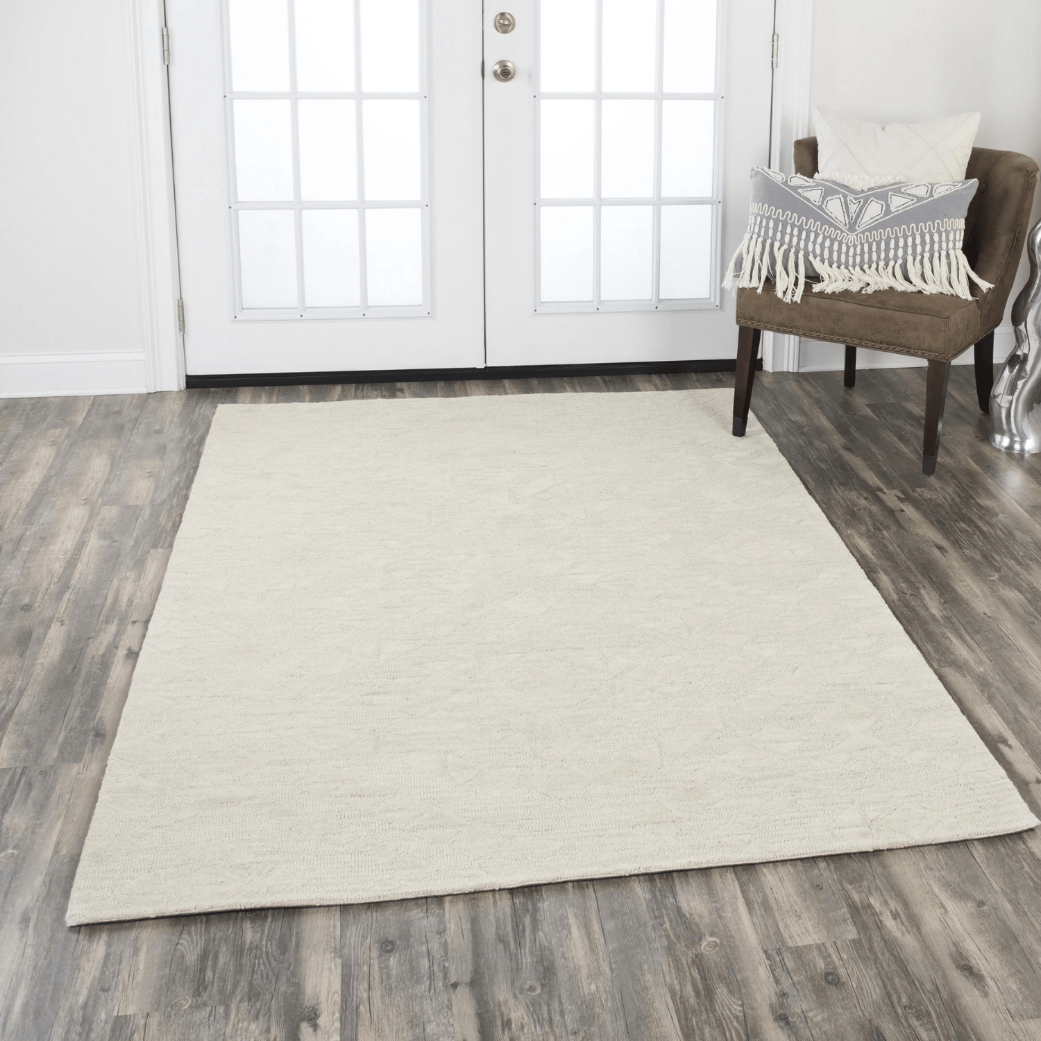 Fifth Avenue Rizzy Home FA167B Beige Wool Neutral Area Rug