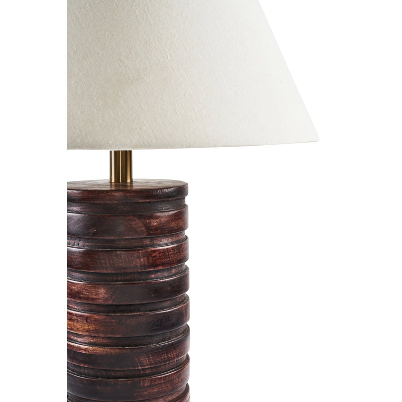 LPT1158 Renwil Banderas Table Lamp Cayman Mango Wood Lamp Walnut Column Table Lamp Wood Bedside Lamp Modern Wood Lamp