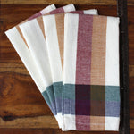 Check Cinnamon Hand-woven Napkins - Set of 4
