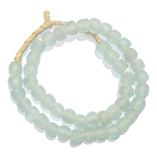 Clear Aqua Recycled Glass Beads
