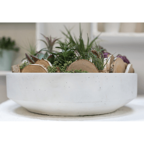Decorative White Stone Bowl