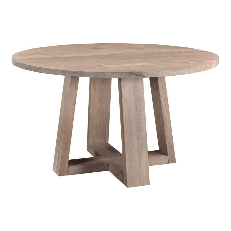 Round Natural Wood Dining Table
