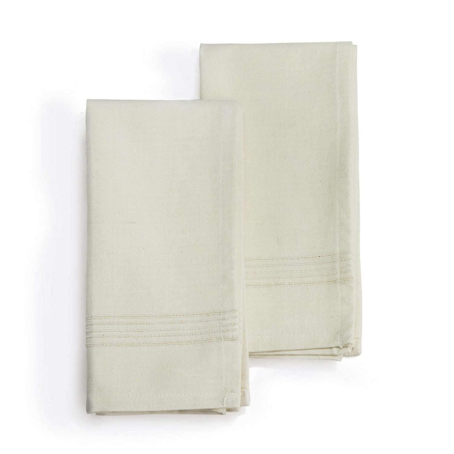 Cotton Hand-Woven Cream Napkins - Set of 4