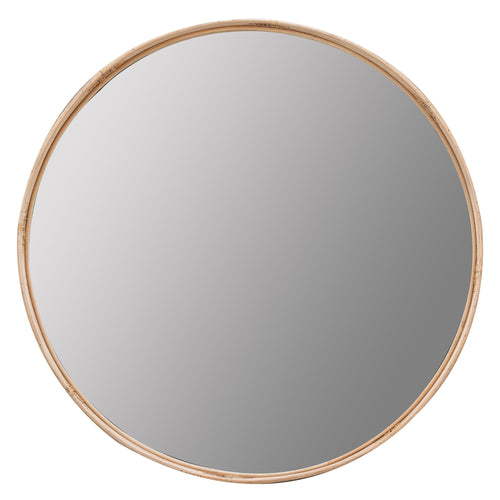 Cove Large Round Natural Rattan Mirror