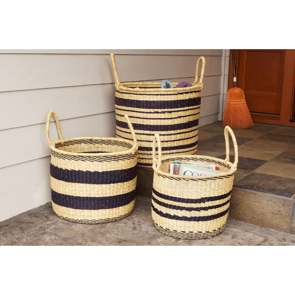 Woven Baskets - Set of 3