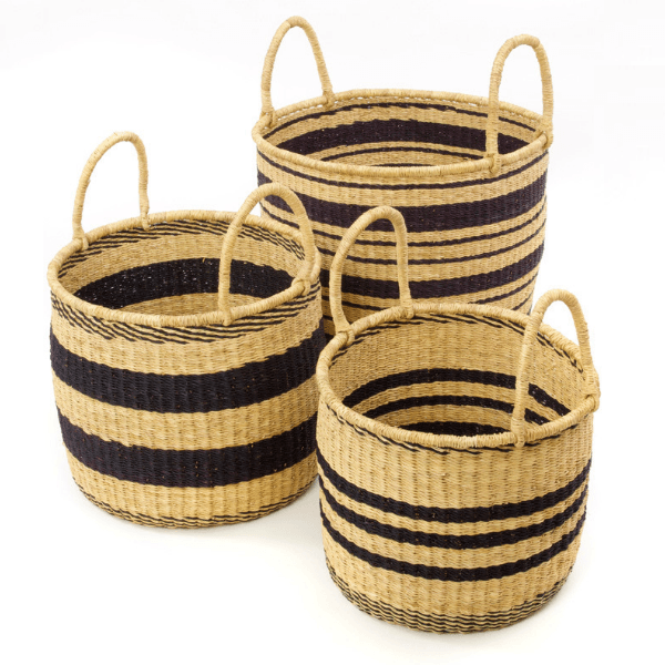 Stripe Basket Set of 3