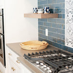 Faye Round Woven Rattan Tray in Natural in Kitchen