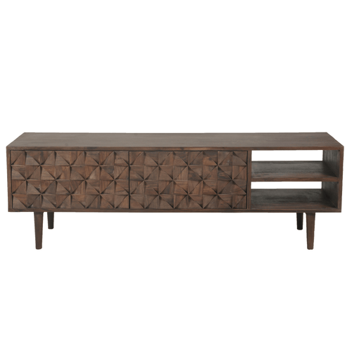 Fenna Media Console in Solid Sheesham Wood