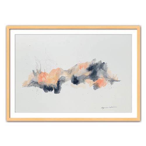 Fireside Abstract Framed Art by Ryanne Shiner