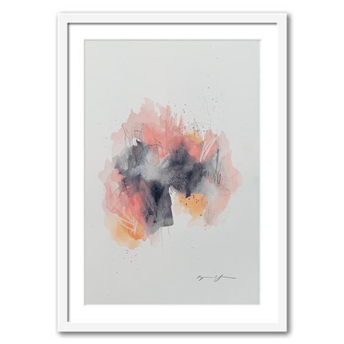 Golden Hour Framed Abstract Art Print by Ryanne Shiner
