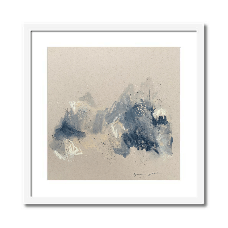Grey I Abstract Framed Art by Ryanne Shiner