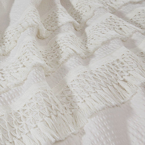 Ivory Tassel Duvet Up Close