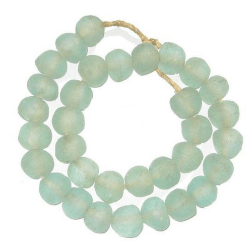 Recycled Glass Aqua Seaglass Large Round Decorating Beads for the Home