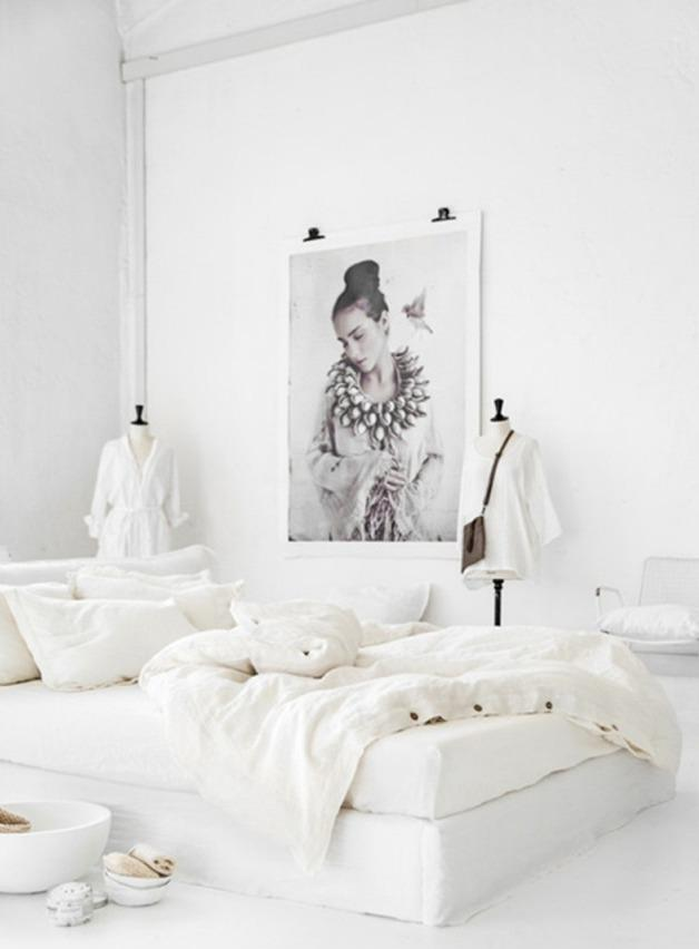 White linen bedding from magic linen with buttons in queen and king