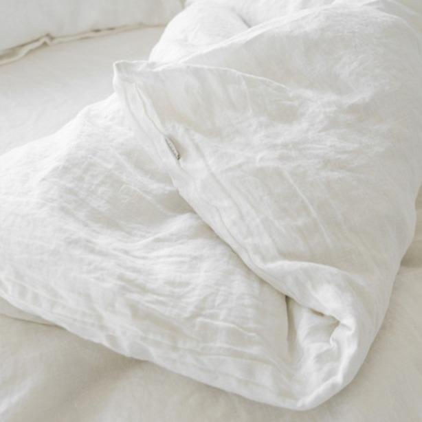 white linen duvet cover bedding for queen and king soft prewashed