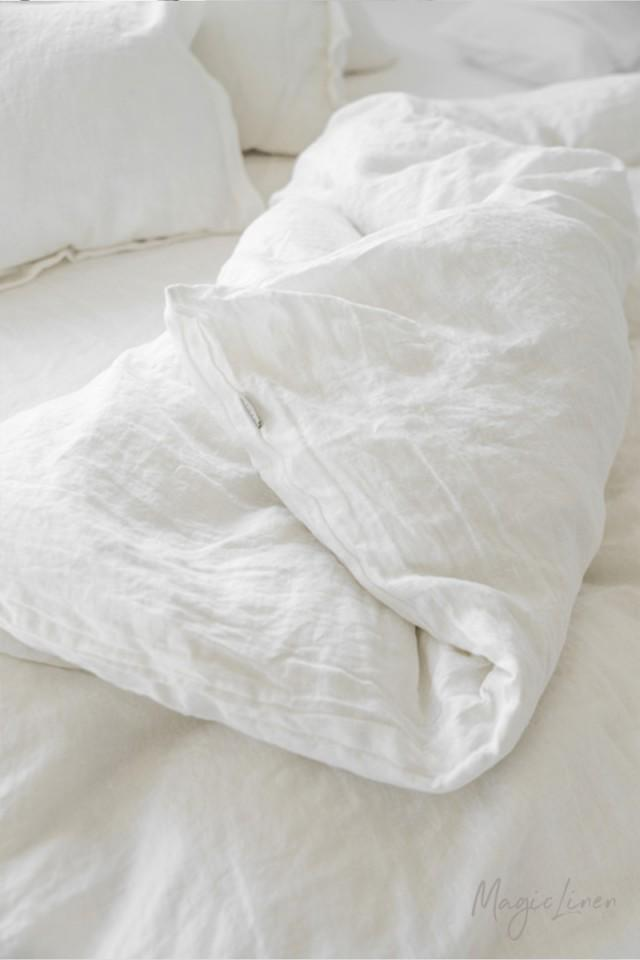 white linen bedding duvet cover queen and king