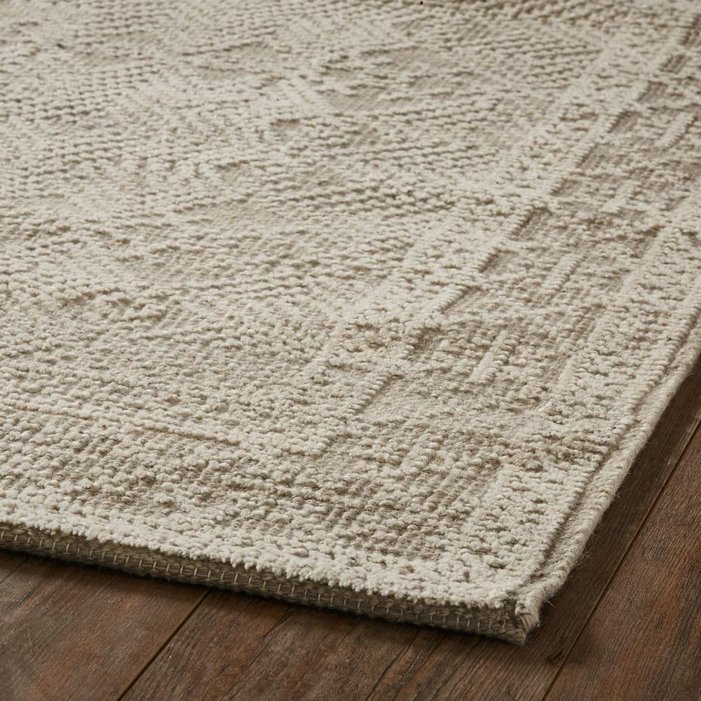 Neutral and Cream Wool Area Rug