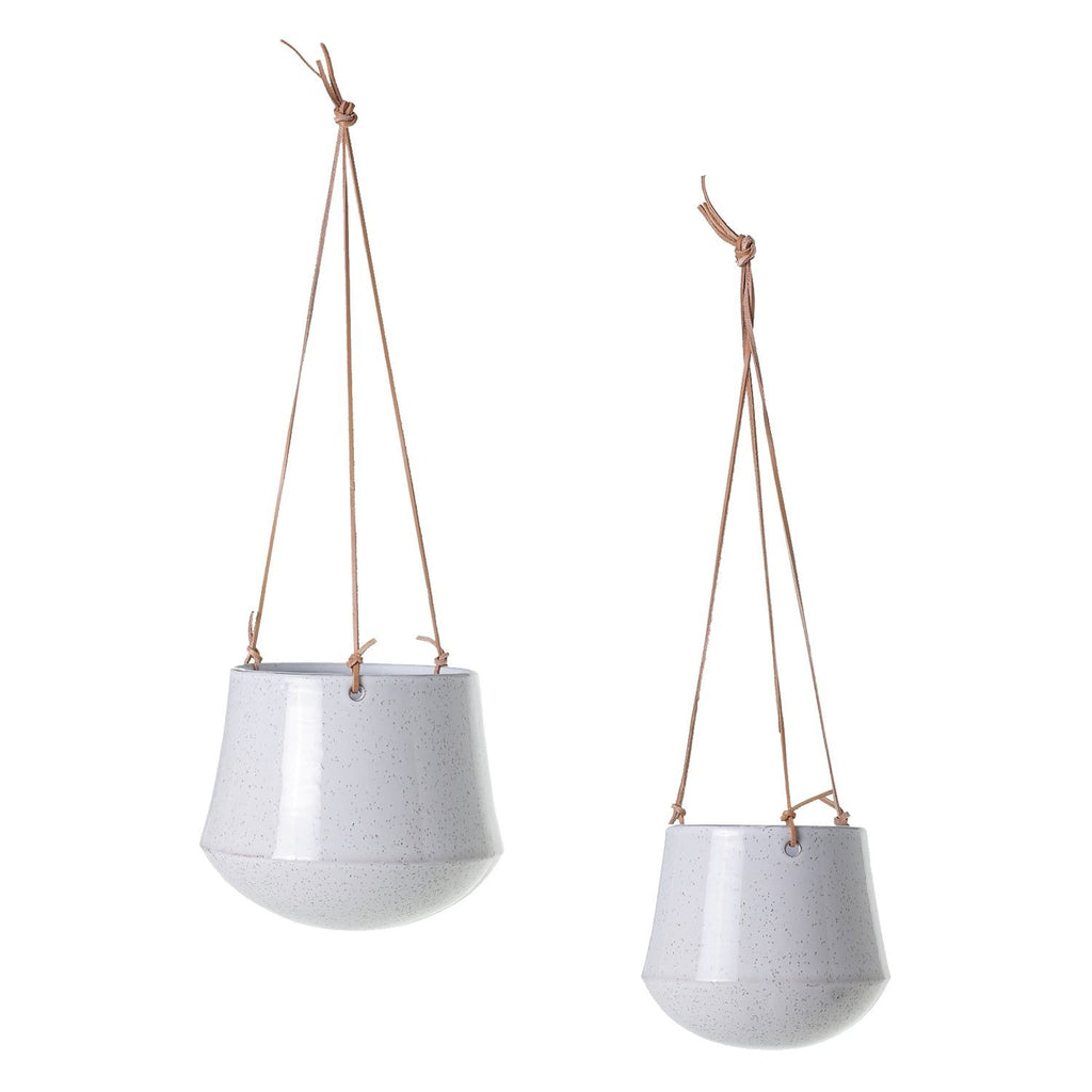 White modern Ceramic Hanging Planter Hanging Pot