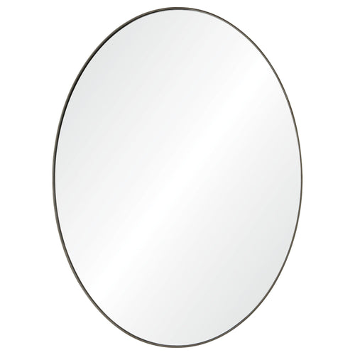 Noor Brushed Silver Mirror