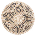 Set of 7 Decorative Woven Seagrass Wall Baskets in Assorted Colors and Sizes - Boho Gallery Wall