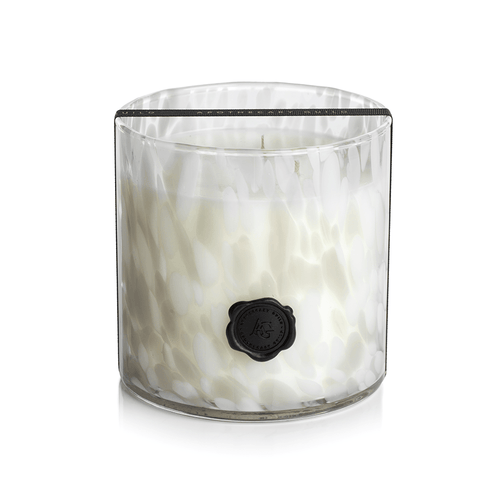 three wick long burning 150 hour glass candle jar in white gardenia with match boxes
