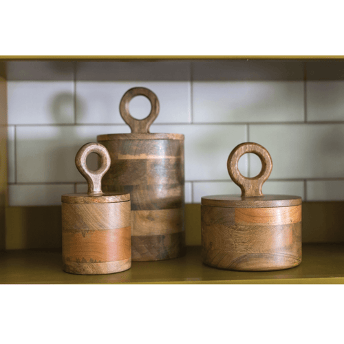 Mango Wood Canister Set