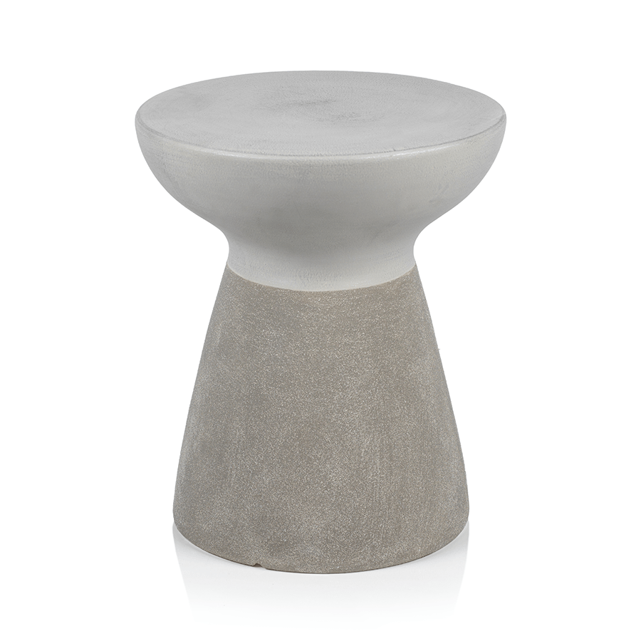 Grey and White Small Simple Accent Stool
