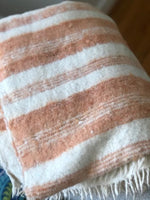 Pink Coral Chamarra Momo Wool Blanket made in GuatemalaPink Coral Chamarra Momo Wool Blanket made in Guatemala