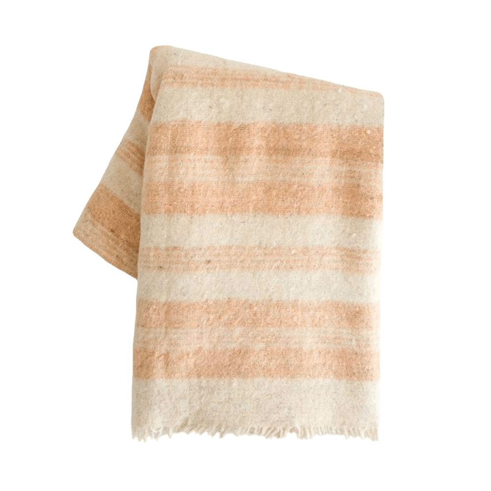 Pink Coral Chamarra Momo Wool Blanket made in Guatemala