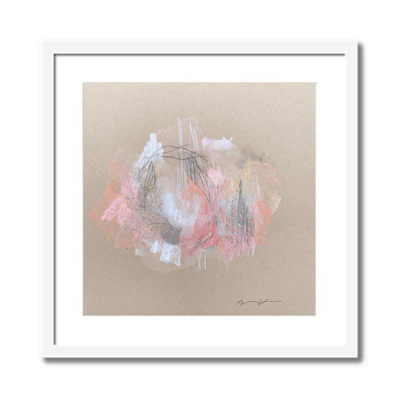 Petals I Abstract Framed Art by Ryanne Shiner