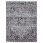 Vintage Style Blue and Pink Printed Rug