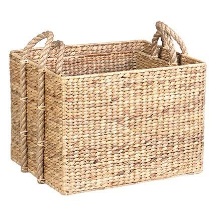 Large Woven Nesting Storage Baskets in Natural Material