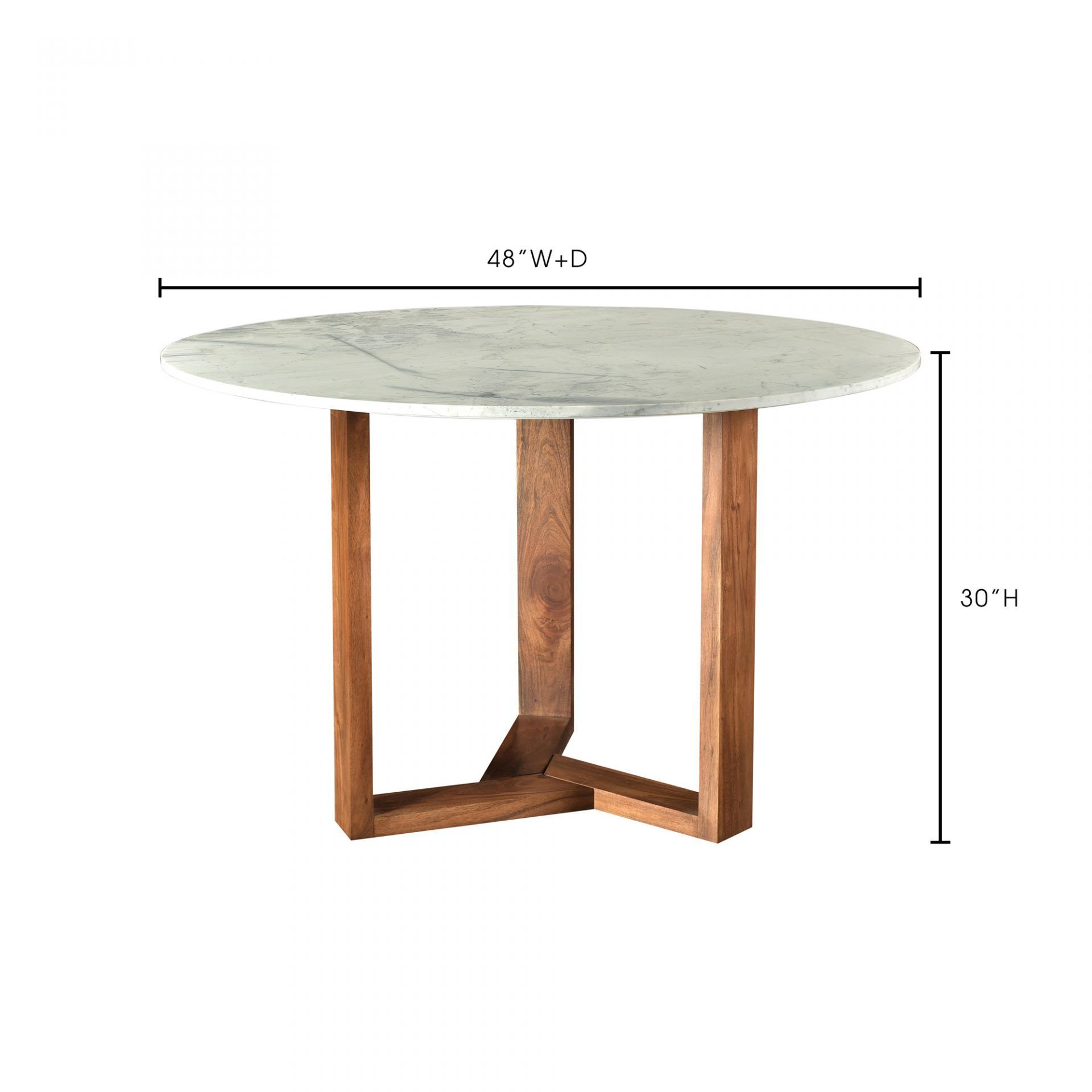 Rio Round Marble Dining Table - Dimensions