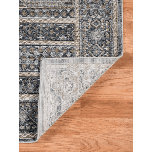 Charcoal Patterned Area Rug
