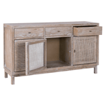 Rustic Woven Cane Cabinet