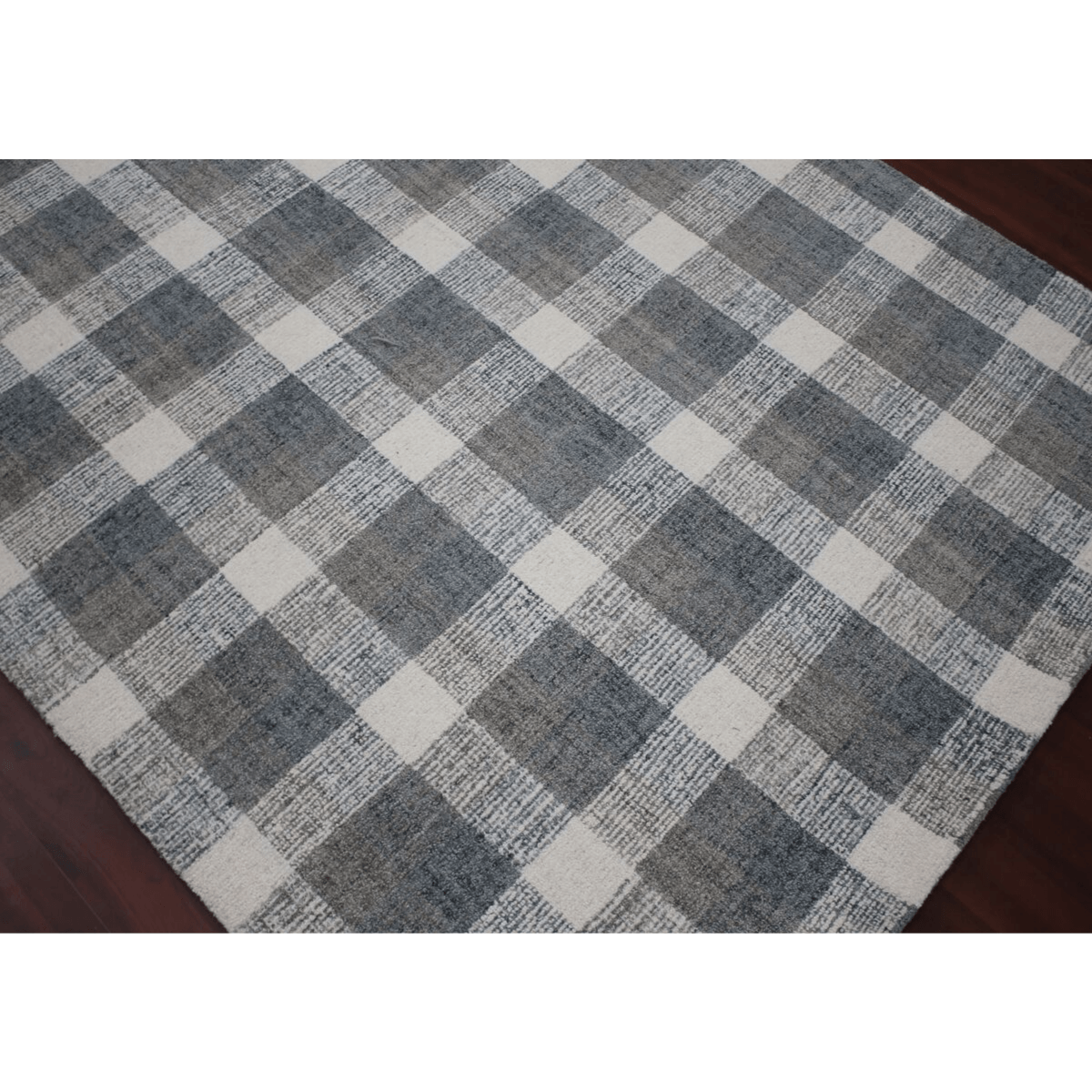 Tartan Rug in Dark Gray