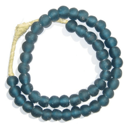 Teal Recycled Glass Beads