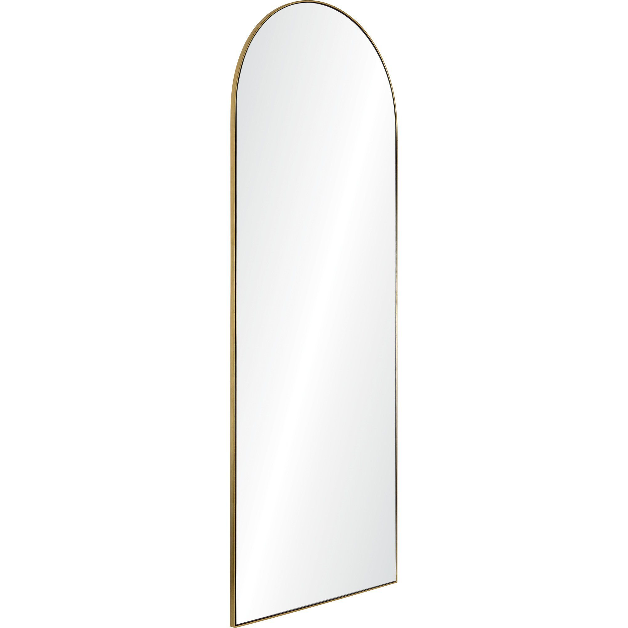 Thatcher Gold Floor Length Mirror With A Thin Gold Metal Frame Winnoby