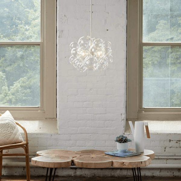 Clear Glass Bubble Chandelier