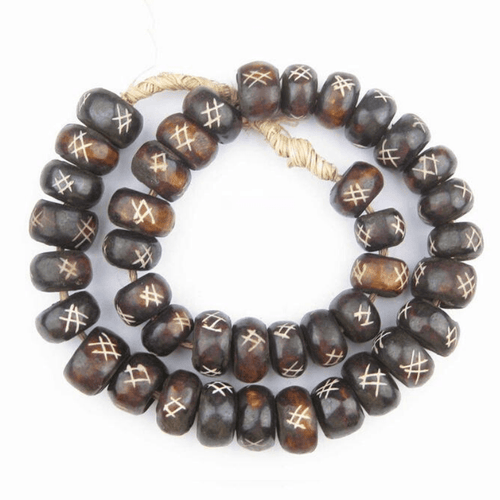 Brown Wood Color Large Decorative Styling Beads