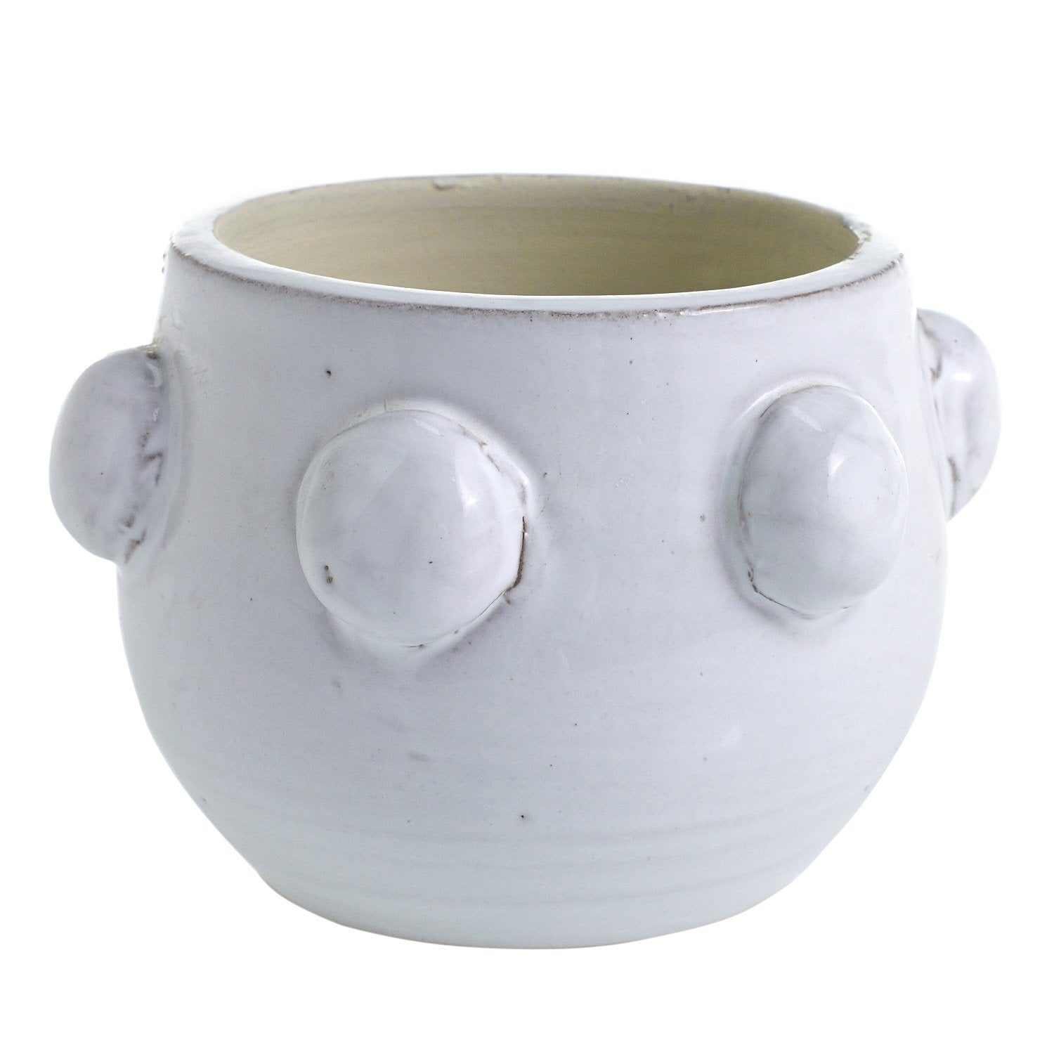 Glazed White Terracotta Indoor Planter Pot