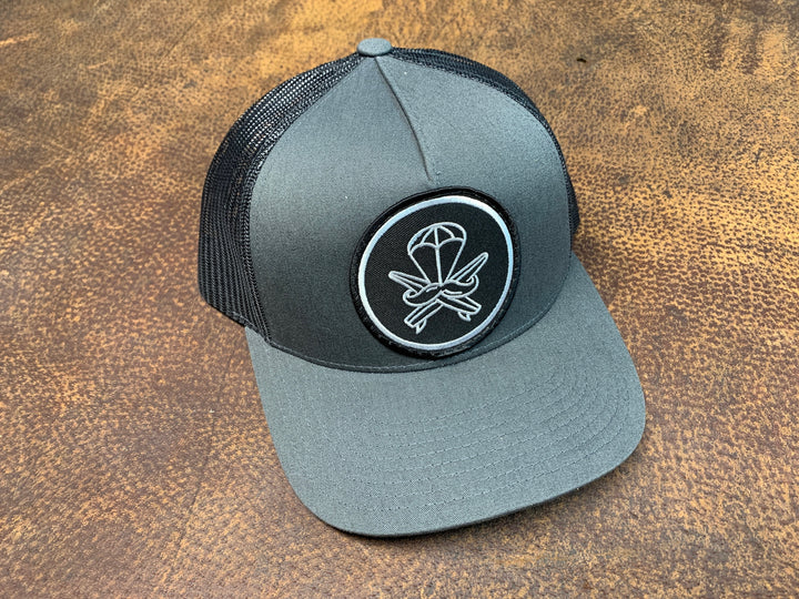 Grey and Black Patched Hat - Original Logo