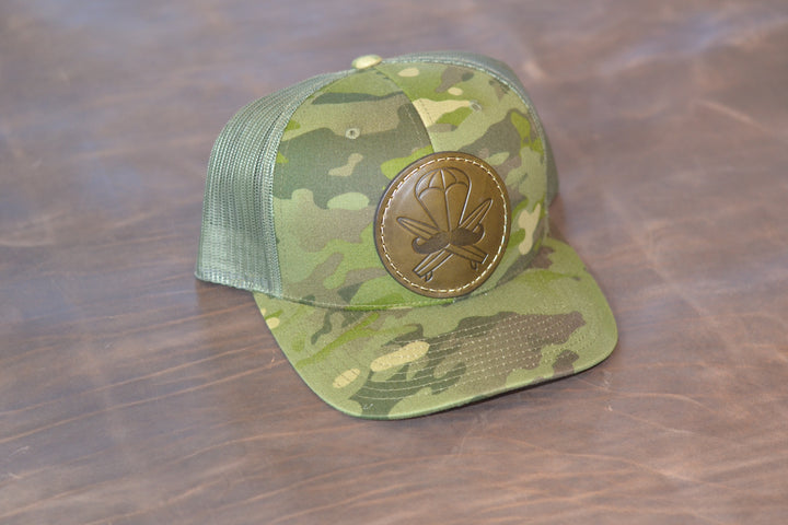 Multicam Tropic Leather Patched Hat